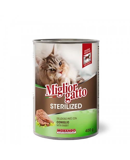 Miglior Gatto Steril паштет для стерилизованных кошек с кроликом, 400 гр