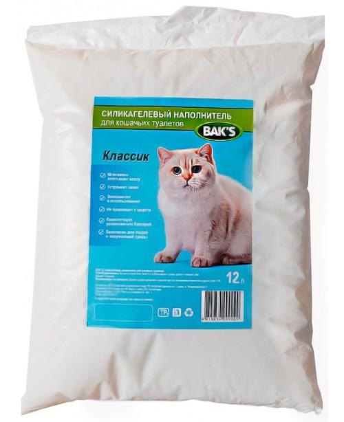 BAK'S Наполнитель селикогелевый 12 л