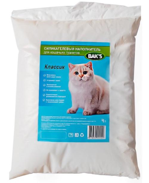 BAK'S Наполнитель селикогелевый 4л
