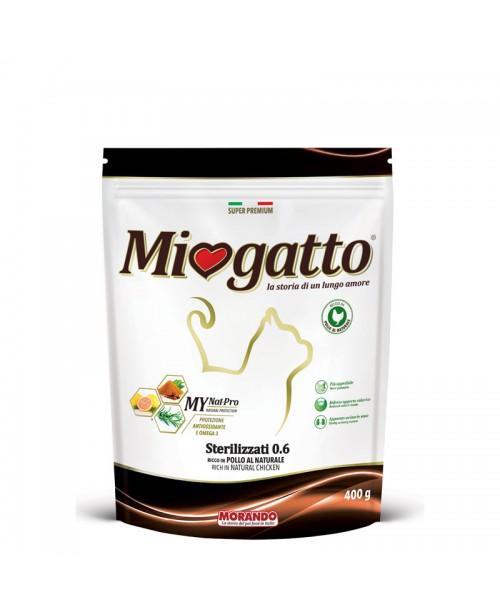 MioGatto Sterilizzati - сухой корм для стерилизованных кошек с курицей 400 гр