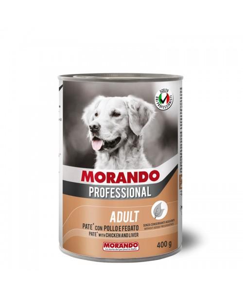 Morando dog Professional ADULT PATÉ WITH CHICKEN AND LIVER (паштет с курицей и печенью) 400 гр
