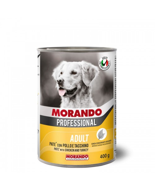Morando dog  Professional PATÉ WITH CHICKEN AND TURKEY (Паштет с курицей и индейкой ) 400 гр