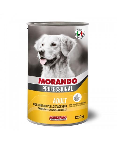 Morando dog Professional CHUNKS WITH CHICKEN AND TURKEY (кусочки в соусе с курицей и индейкой) 1250 гр