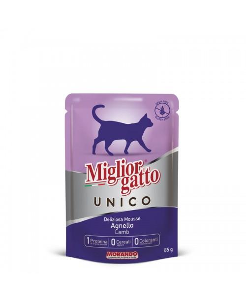 Miglior gatto UNICO DELICIOUS LAMB MOUSSE (мусс с ягненком) для кошек 85 гр