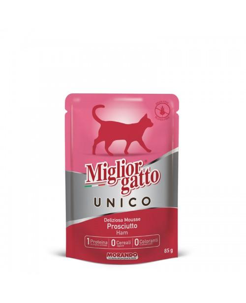 Miglior gatto UNICO DELICIOUS HAM MOUSSE (мусс с ветчиной) для кошек 85 гр