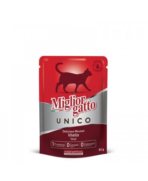 Miglior gatto UNICO DELICIOUS VEAL MOUSSE (мусс с телятиной) для кошек 85 гр