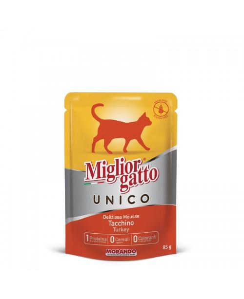 Miglior gatto UNICO DELICIOUS TURKEY MOUSSE (мусс с индейкой) для кошек 85 гр
