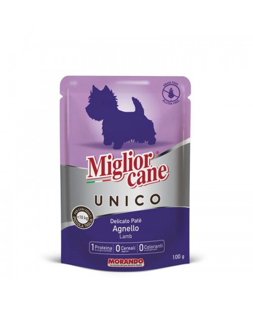 Miglior cane UNICO ADULT MINI DELICATE PATÉ LAMB (паштет с ягненком) для собак 100 гр