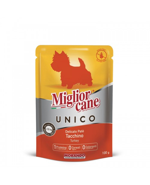 Miglior cane UNICO ADULT MINI DELICATE TURKEY PATÉ  (паштет с индейкой) для собак 100гр